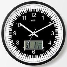 Silent Led Wall Clock Modern Art Music Piano Classroom School Decorative Watch Calendar Temperature Reloj Cocina Decor SC315