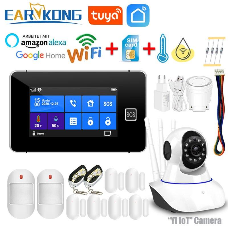 Система сигнализации Tuya с Wi Fi и GSM Противоугонная сигнализация для умного дома