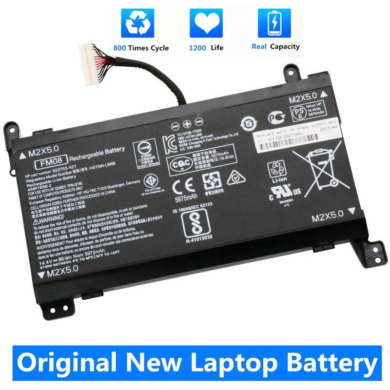 CSMHY New Original FM08 Battery For HP OMEN 17 17-AN013TX 17-AN014TX TPN-Q195 HSTNN-LB8B 922753-421 922977-855 16 Pin