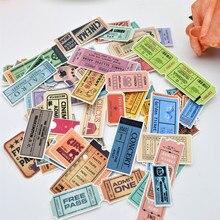 78 pièces mignon Antique bill billet autocollant journal/cahier planificateur autocollants Scrapbooking main compte papier mince adesivo balle journ