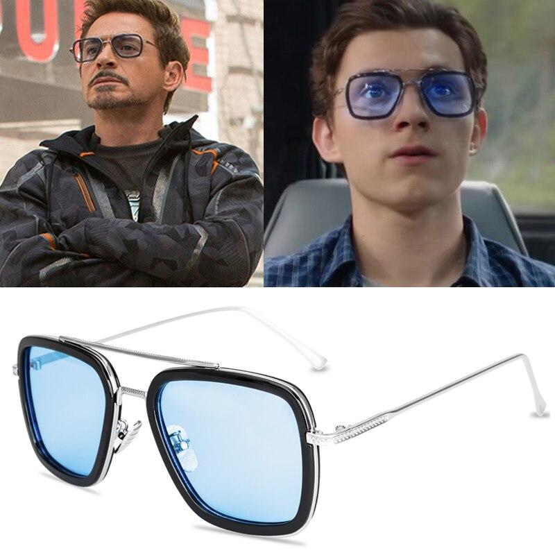 Солнцезащитные очки Эдит Тони Старк для мужчин и женщин, мужские солнцезащитные очки в стиле стимпанк, подарок