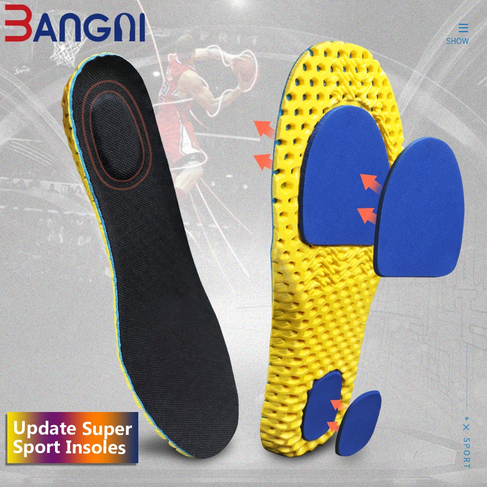 sports insoles for women men shoes pads arch support inserts foot soles massage shoe pad breathable soft pigskin latex cushions BANGNI Sports Insoles for Shoes Gel Pad Arch Support Shoe Sole Non-slip Breathable Soft Relax Inserts Care for Feet Men Women