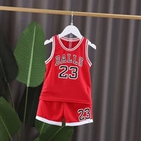 children basketball set clothes boys vest set kids summer set new baby t shirt short 1 8t sports sleeveless t shirt shorts