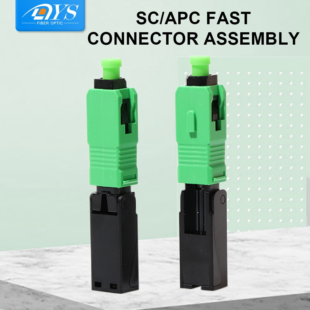 50pcs FTTH Fiber Optic Quick Connector Single Mode Optical Fiber Field Assembly Embedded Quick Connector