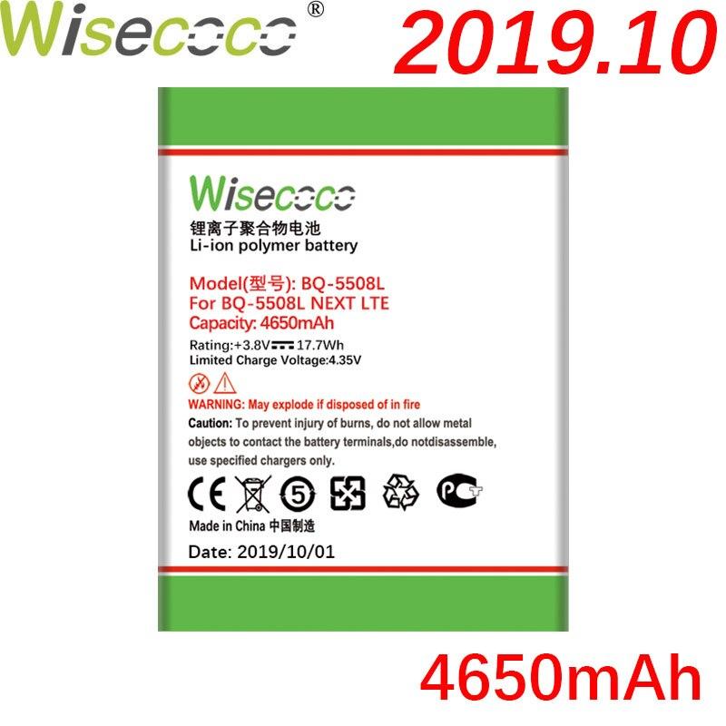 Batería de BQ-5508L WISECOCO 4650mAh para BQ-5508L teléfono móvil siguiente LTE última producción batería de alta calidad + número de seguimiento