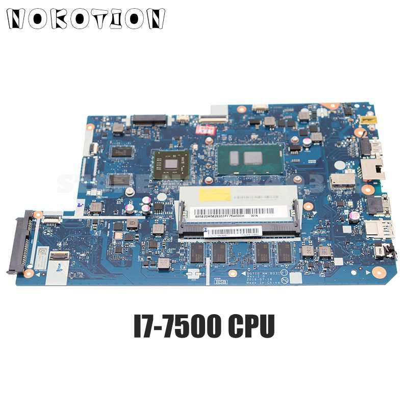 NOKOTION لينوفو 110-17ikb V110-17IKB اللوحة المحمول DG710 NM-B031 FRU 5B20M56286 5B20M56283 I7-7500 GPU 2GB GPU