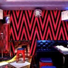 Papier peint mural ktv 3d jaune rouge   Papier peint de Bar, Roll Shop, stickers muraux de projet, QZ162