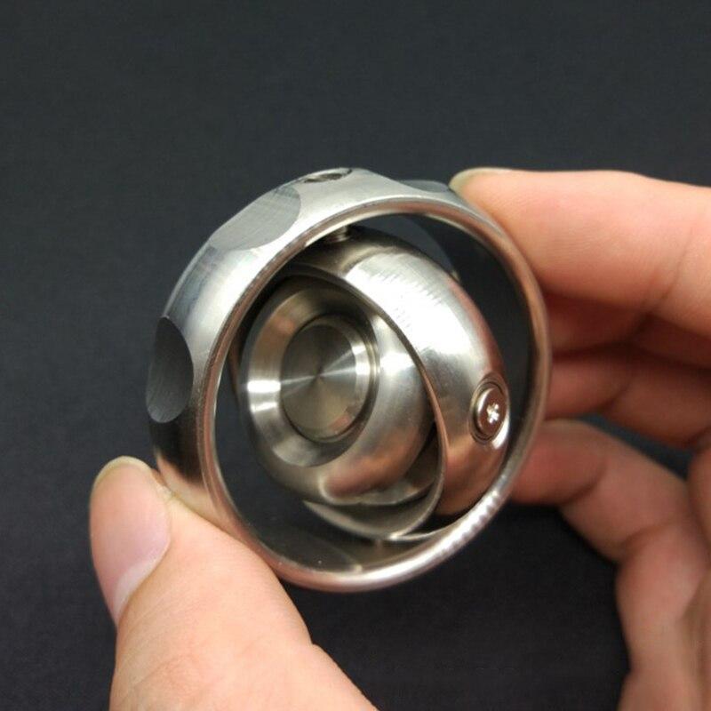 Mechforce EDC المعادن جيروسكوب وحدة دوران بالأصابع اليد سبينر الضغط لعبة الكبار مكافحة الإجهاد دوران التوازن تململ سبينر