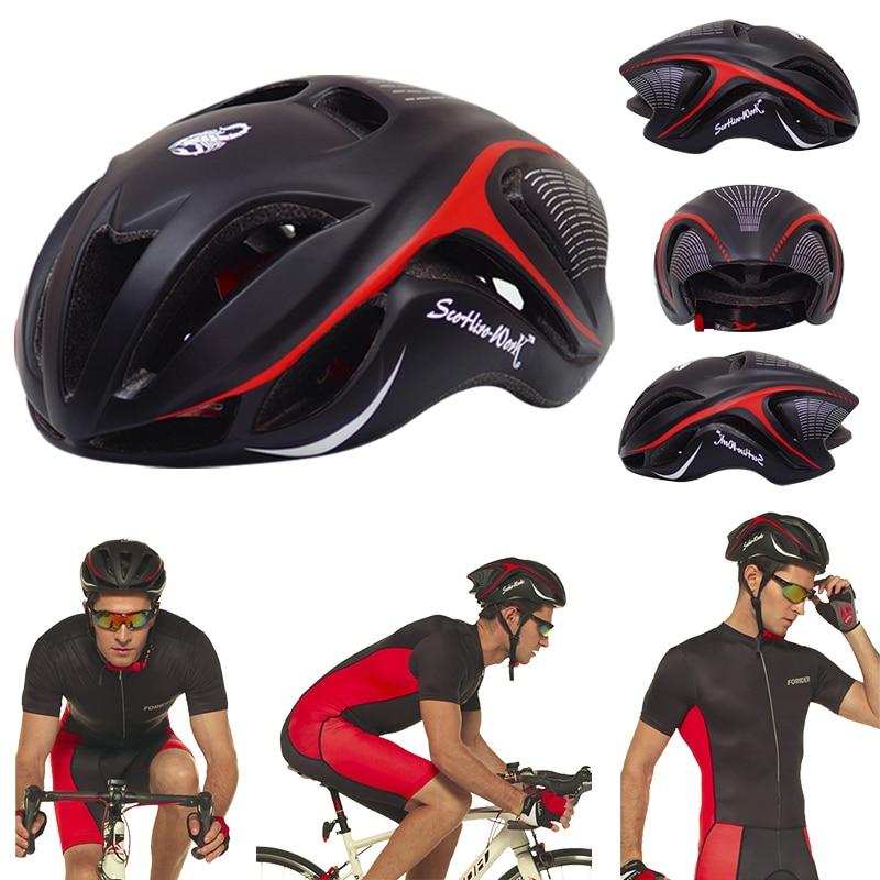 2020 nouveau casque vtt homme hombre poids léger haute dureté casque vélo respirant multicolore casco ciclismo carretera 58-62 cm
