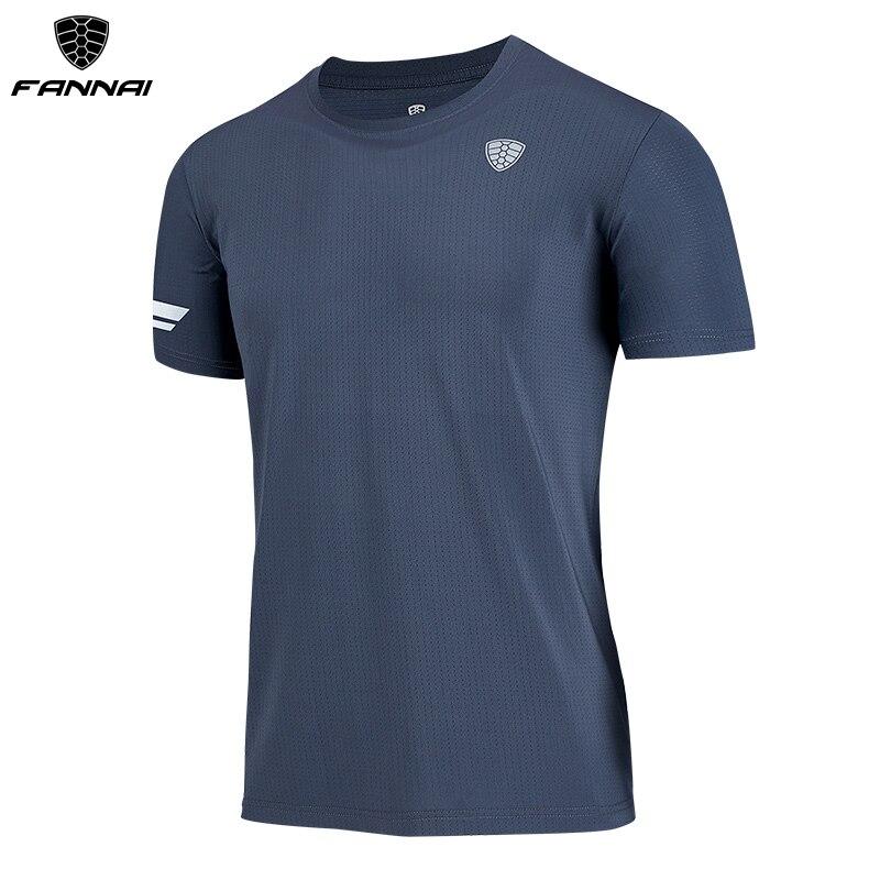 FANNAI Lauf Shirt Quick Dry T Hemd widersteht falte Gym Sport Kleidung Training Top männer workout shirts FN42