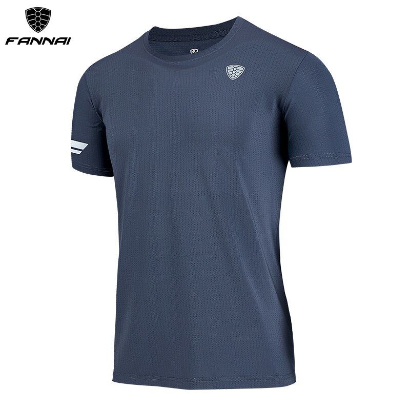FANNAI Running Shirt Quick Dry T Shirt resists crease Gym Sport Clothing  Workout Top men workout shirts FN42