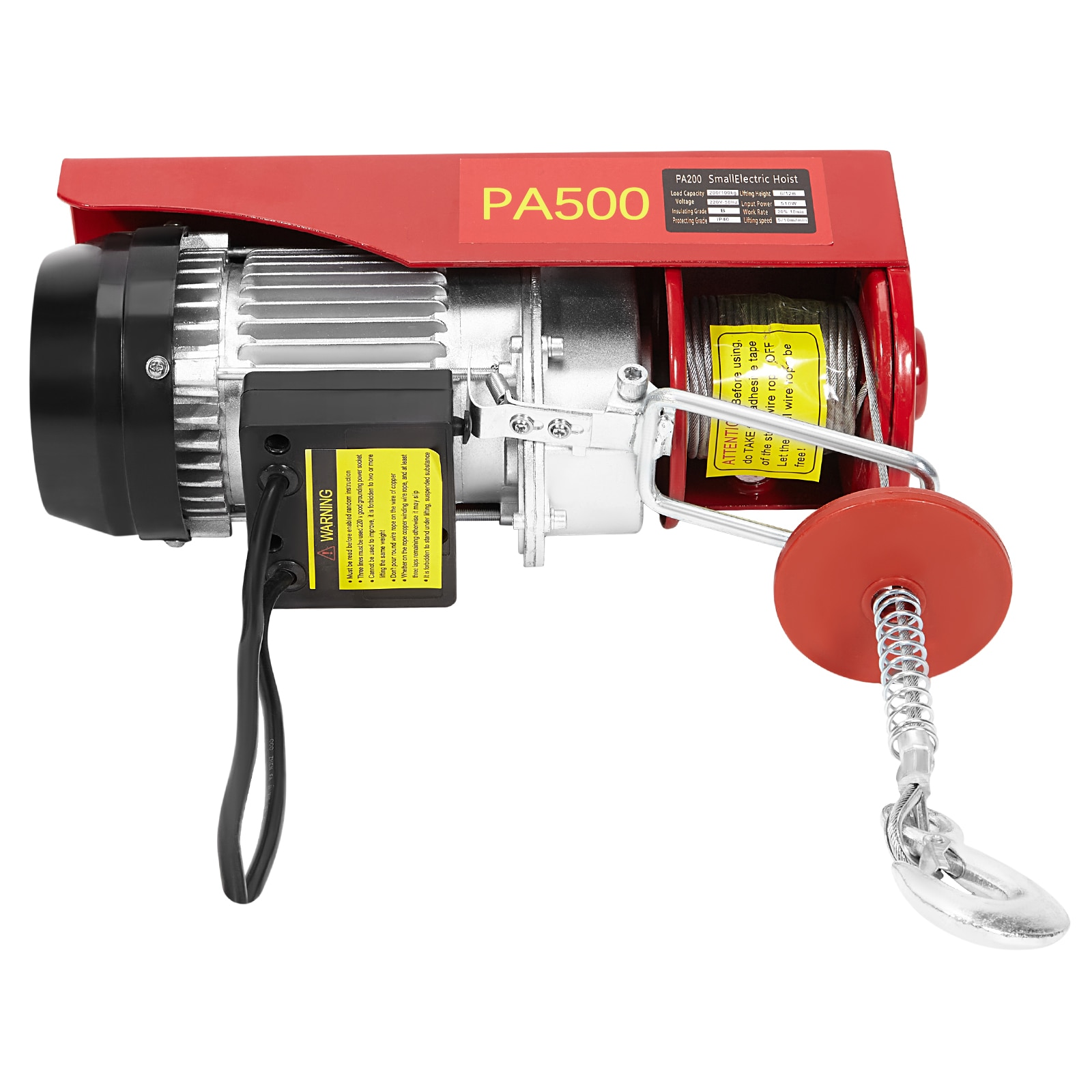 100 lbs Electric Lifting Cranes AC 220V 100V Remote Control Power System Small Wire Rope Lifting Tool With Emergency Stop Switch