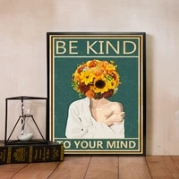 vintage canvas posters and prints mental health awareness wall art yoga canvas prints for living room home decor art unframed