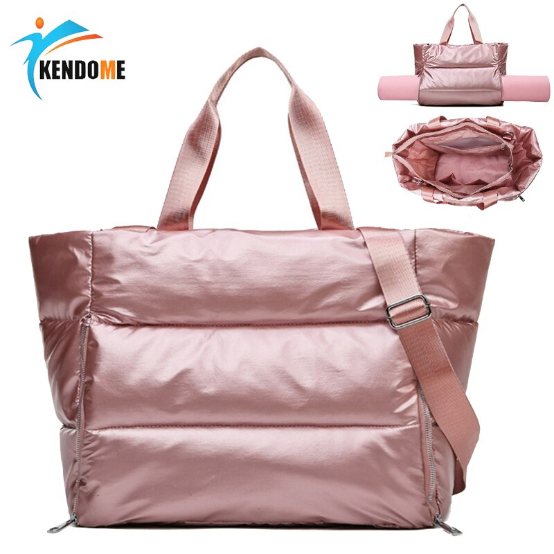 Women Gym Sports Bag Waterproof Swimming Yoga Mat Blosa Pink Weekend Travel Duffle Bags for Women Sport Fitness Shoulder Handbag