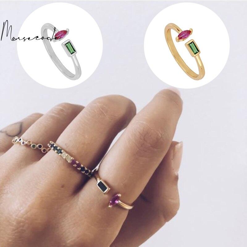 Морс-код-Цвет-бриллиантовые-кольца-для-женщин-925-стерлингового-серебра-открытие-кольцо-на-палец-хорошее-ювелирное-изделие-подарок-дружбы