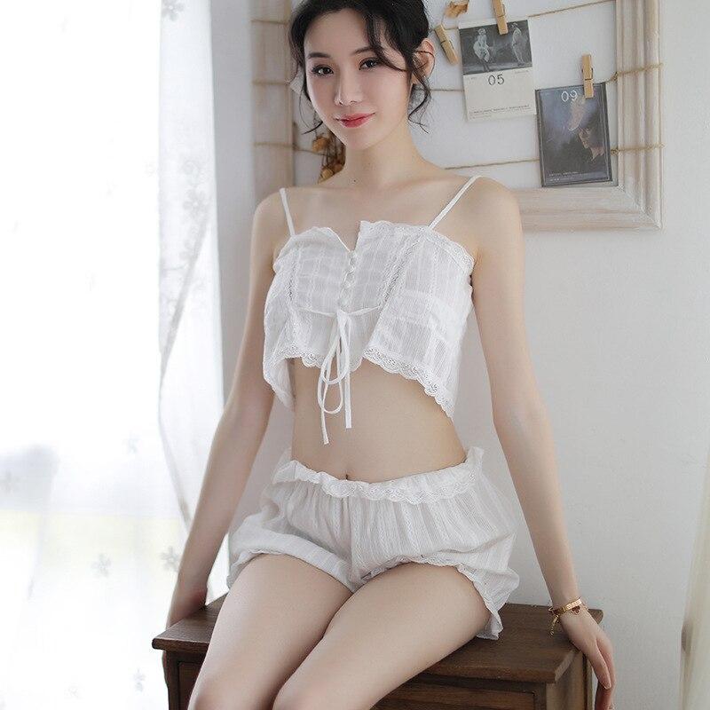 Lencería sensual blanca SEXYE para mujer, lencería erótica de gasa con encaje de gasa, picardías, disfraces sexis para mujer