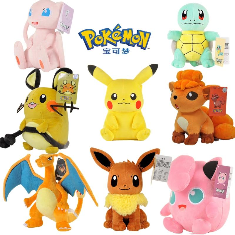 Pokémon Plush Doll Toy Ibrahimovic Charizard Pikachu Pokémon Doll Kawaii Cartoon Plush Doll Pillow Child Birthday Gift недорого