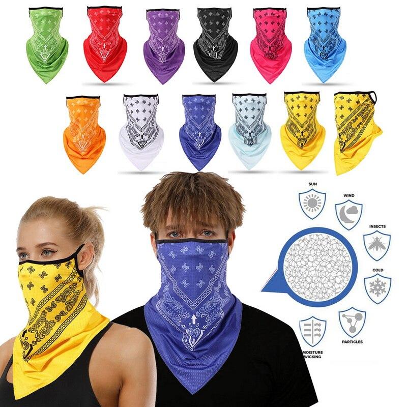 New scarf Headband Skull Neck Gaiter Head Scarves Ear Cover  Scarf Breathable Bandana Half Face Men Girls