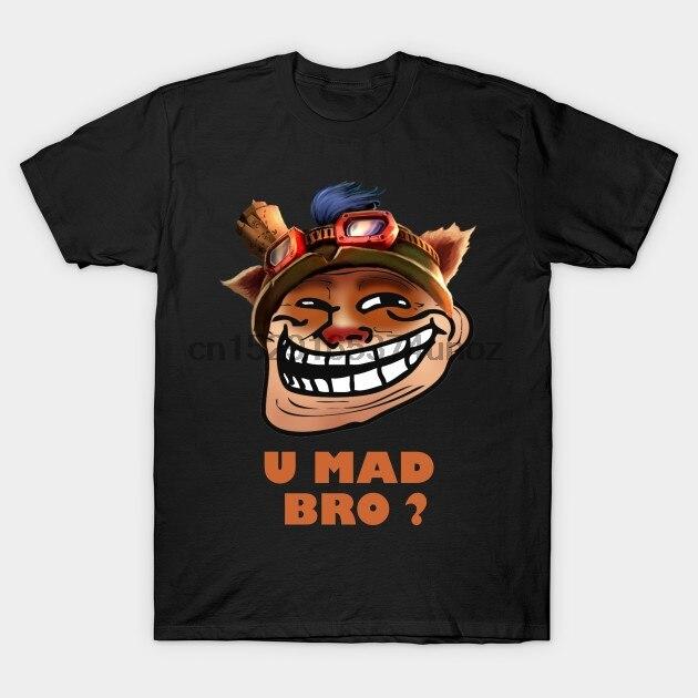 Camiseta masculina teemo troling u mad bro camiseta feminina Camisetas    -
