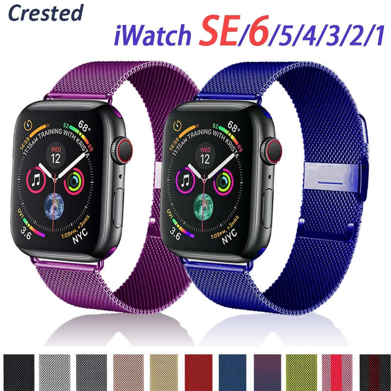 Milanese loop For Apple watch Strap 44mm 40mm 38mm 42mm Metal belt Stainless steel bracelet iWatch b