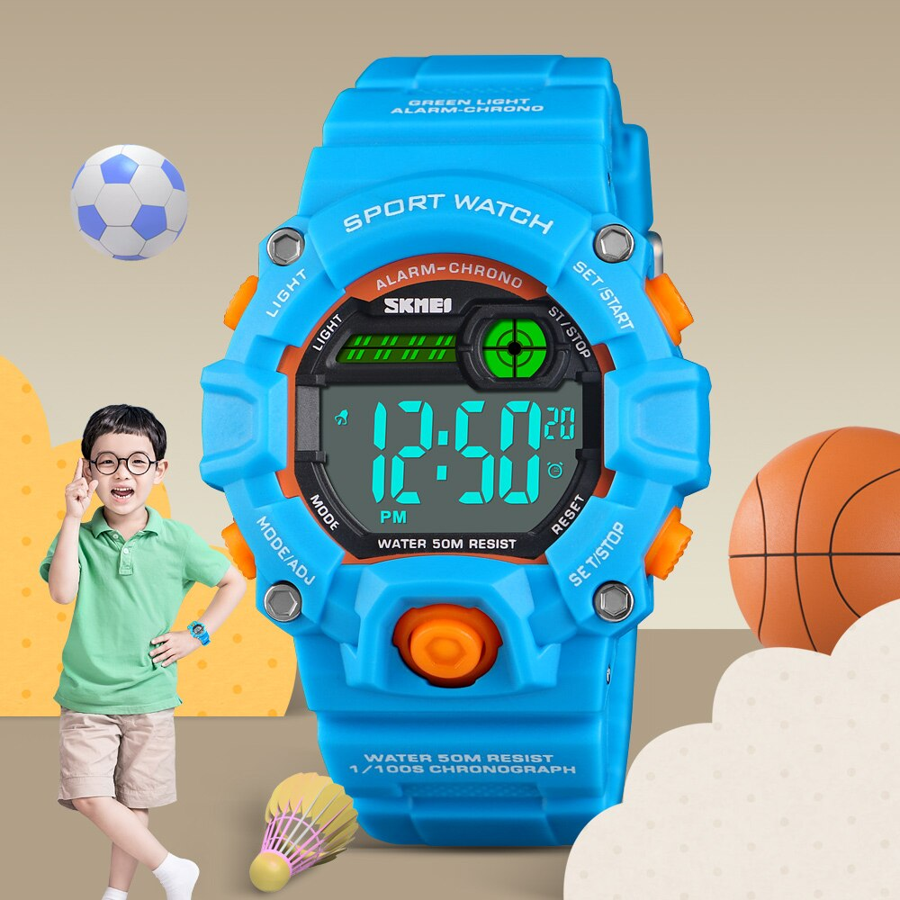 SKMEI Cute Boys Colorful Quartz Watch Kids Children Casual Watch Sport Digital Wristwatch Student Time Party Clock Wristwatches