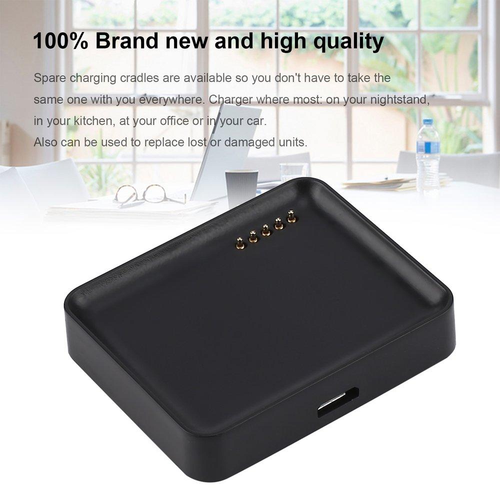 Base de carga de reloj inteligente negro para LG LG-W10 G Watch R W100 cargador de batería de reloj inteligente con Cable Micro Usb