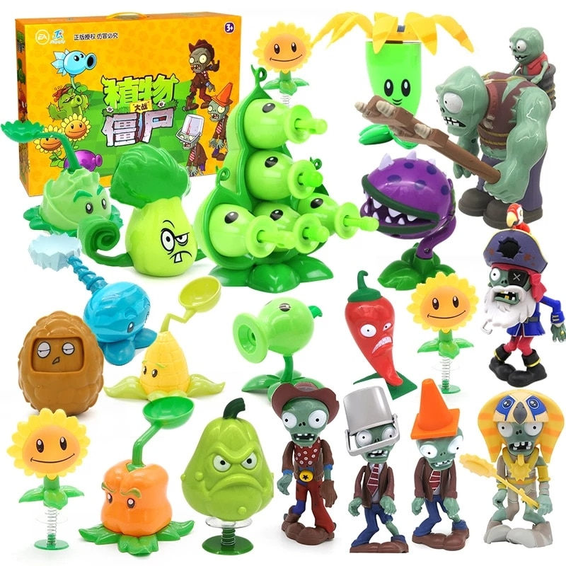 AliExpress - Hot Role Plants Pea shooting Zombie 2 Toys Full Set Gift for Boys Ejection Anime Children's Dolls Action Figure Model Toy No Box