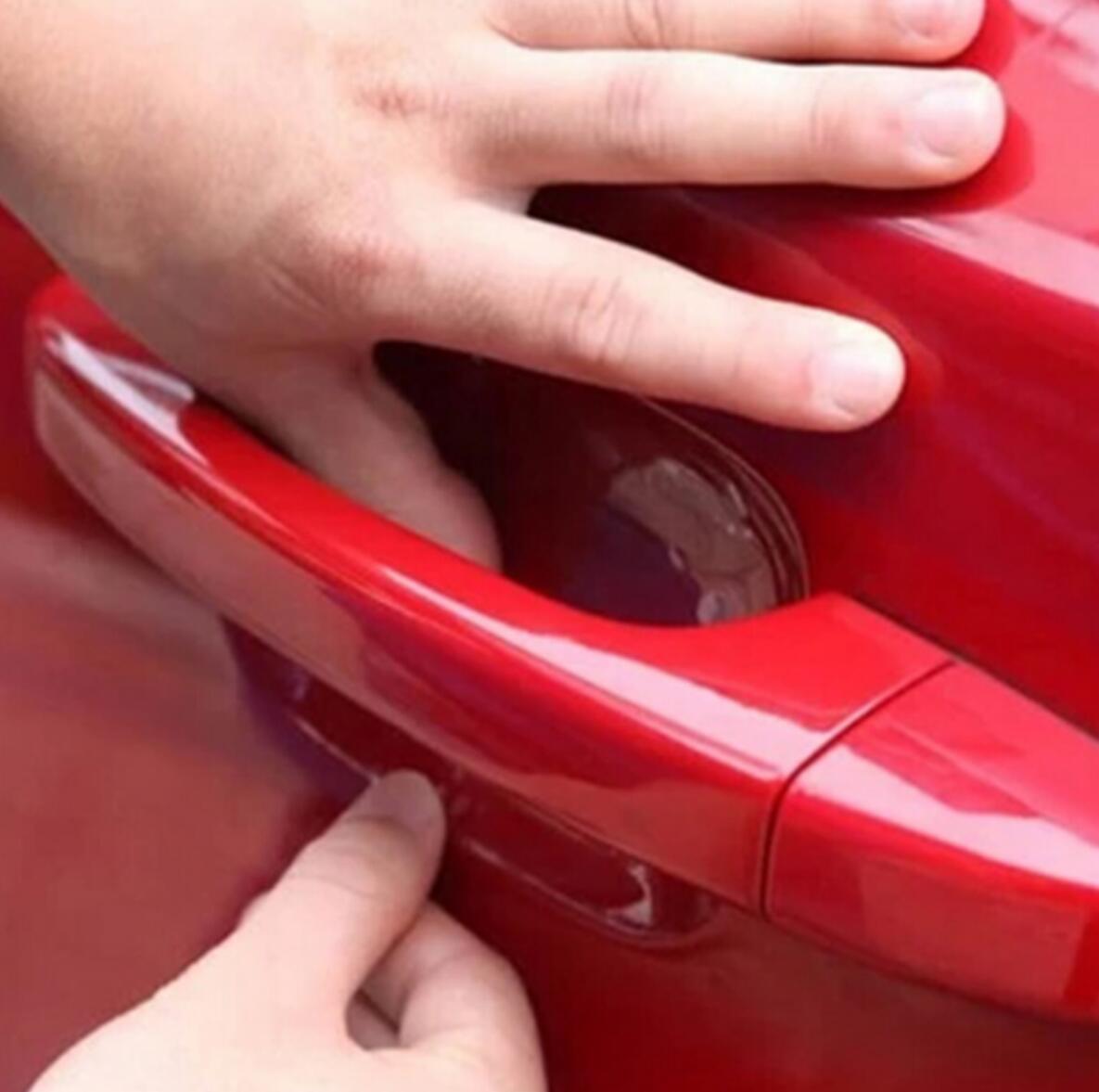 4 шт. Автомобиль дверная ручка Защитная клеящеяся пленка для автомобиля для Mazda 2 3 5 6 CX-3 CX-4 CX-5 CX5 CX-7 CX-9 Atenza Axela