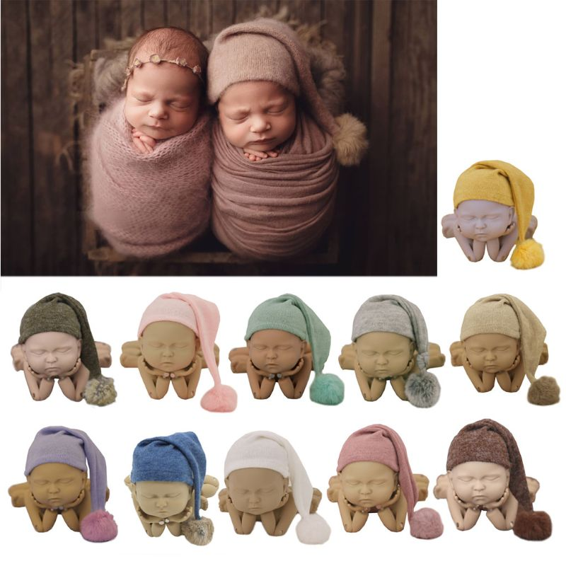 AliExpress - 2021 Newborn Photography Props Hat Beanie Propshoot for Photography New Born Baby Boys Girls Accessories