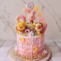 disney childrens birthday cake decoration winnie the pooh piglet pig tigger birthday articles home decoration