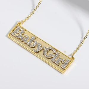 Lateefah Stainless Steel Choker Custom  Necklace Custom Jewelry Men Handmade Nameplate Pendant Necklaces Women Best Friend Gift