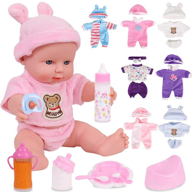 12 polegadas bebe reborn brinquedos bonecas para bebê menina recém-nascido brinquedos de silicone completo presente para crianças playmate borracha bonecas