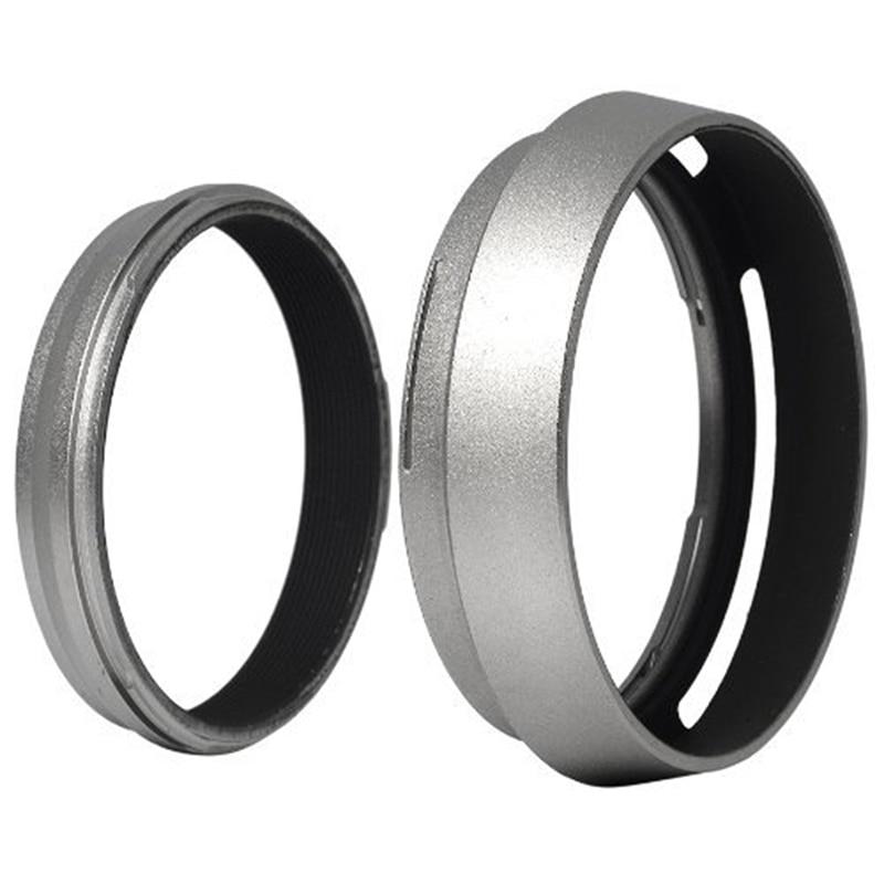 Filter Adapter Ring + Aluminum metal Lens Hood for Fujifilm Fuji FinePix X100 Replace LH-X100 LF91