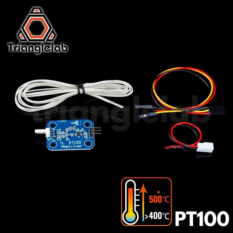 Trianglelab 3D принтер V6 hotend PT100 набор для обновления датчика PT100 панель контроля температуры датчик для E3D HOTEND нагревательный блок