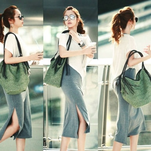 Bohemian Straw Women Shoulder Bags Casual Large Capacity Rattan Totes Woven Wicker Tassel Buckets Lady Handbags Summer Beach Sac