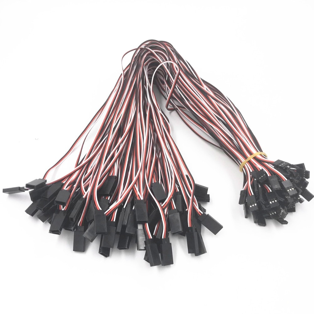 5/10Pcs 100/150/300/500/1000mm Servo Extension Lead Wire Cable For RC Futaba JR Male to Female 10cm 15cm 20cm 30cm 50cm 100cm