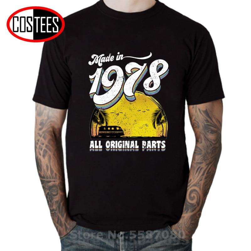 Hecho en 1978, todas las piezas originales, camiseta Vintage, camiseta de algodón...