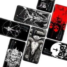 Satanic kafatası siyah yumuşak kılıf için Huawei P40 P30 P20 P10 P akıllı Z Mate 30 10 20 Lite Pro + artı telefon coque kapak