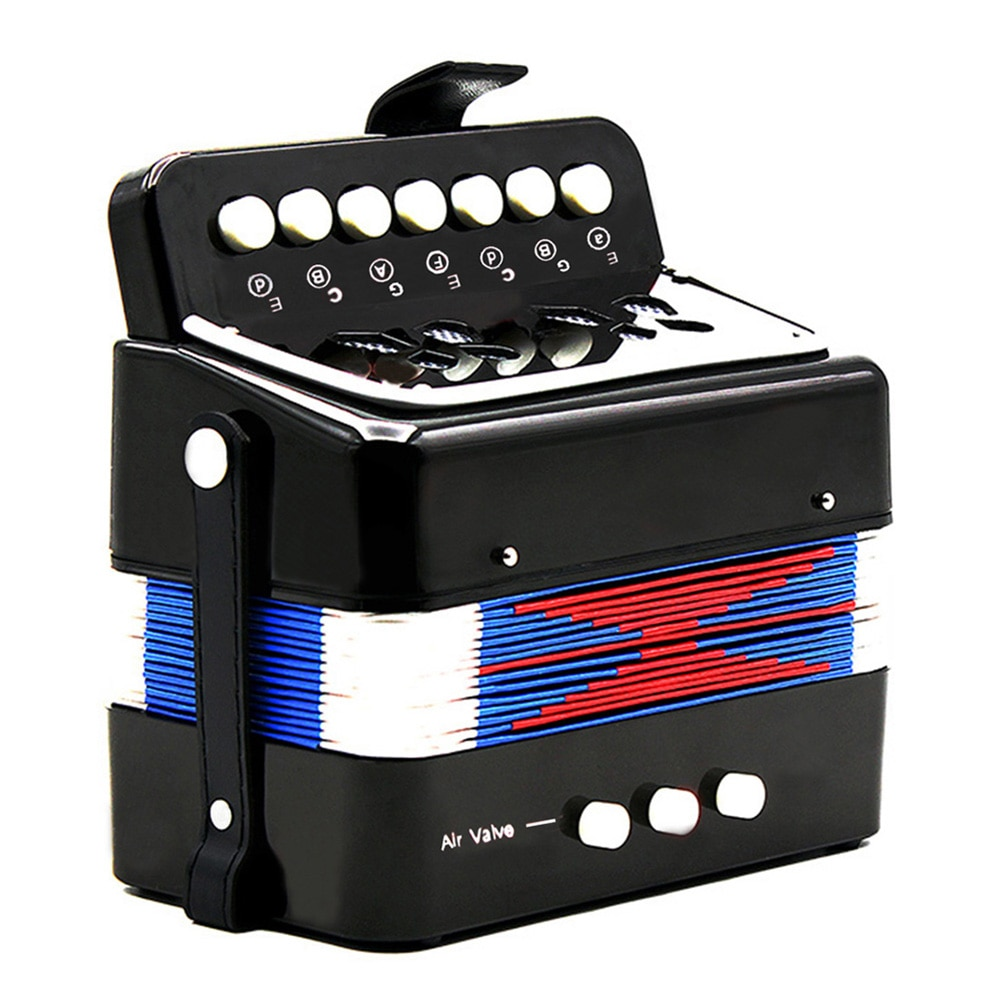 Mini Toy Accordion 7 Keys 3 Buttons Keyboard Educational Practice Toys Musical Instrument for Kids Children Present Gift enlarge