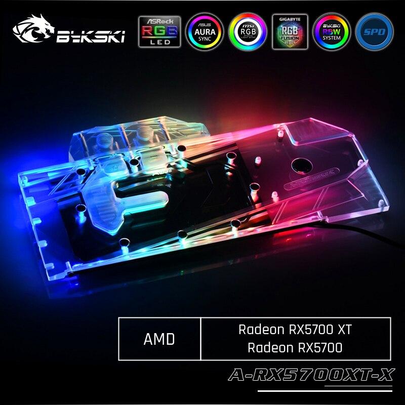 Bykski A-RX5700XT-X, tarjeta gráfica de cobertura completa, bloque de refrigeración por agua, para AMD Founder Edition, Odeon RX 5700 XT/ RX 5700