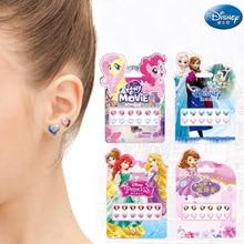 Disney filles congelées elsa Anna 3D boucles doreilles autocollants princesse Sophia Mickey Minnie enfants maquillage bricolage jouets ongles autocollants