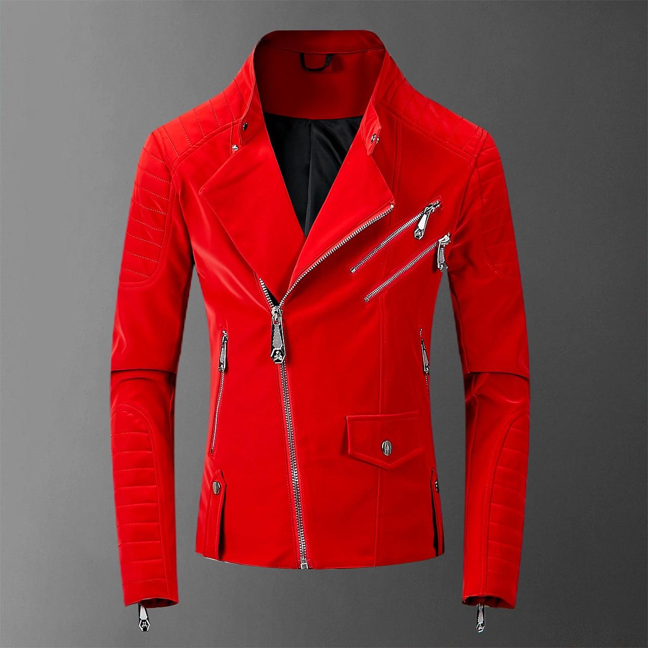 Zipper Winter Biker 2021 Leather Jackets Men Hiphop Streetwear Mens Jackets Faux Leather Coats Casacas Para Hombre PU jackt