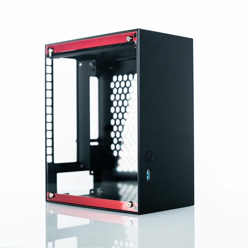 La mejor carcasa de acrílico para Gamer Mini ITX para PC, caja de aluminio, gabinete de refrigerador, juegos, ordenador, Maleta, chasis vacío PK Loli1/A4/K39