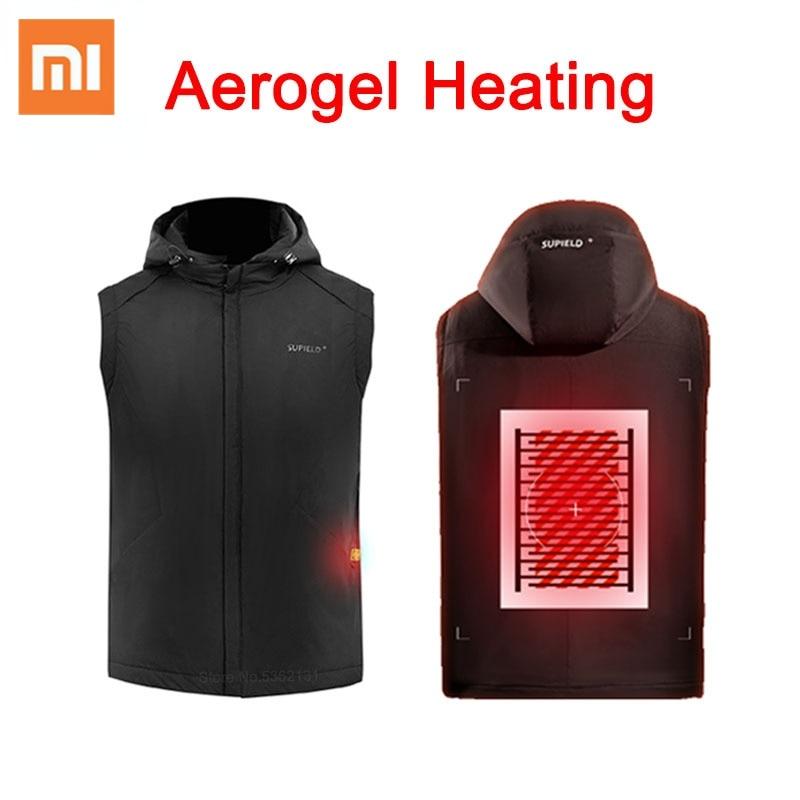شاومي سوبيلد إيروجيل مناطق المقاومة الباردة سترة ساخنة التدفئة الكهربائية سترة الحرارية التدفئة الملابس الشتاء USB سترة ساخنة