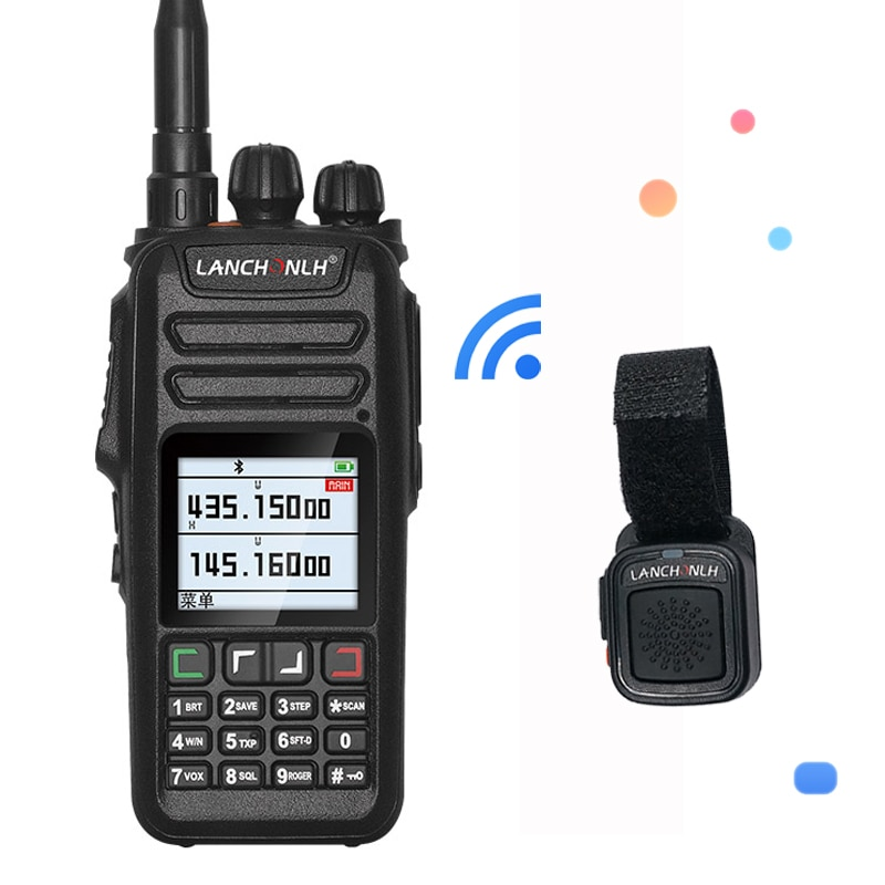 UV-78 Wireless Bluetooth Walkie Talkie VHF&UHF 128CH Dual Band Dual Display  Handheld HF Transceiver Flashlight For Vimoto Sena
