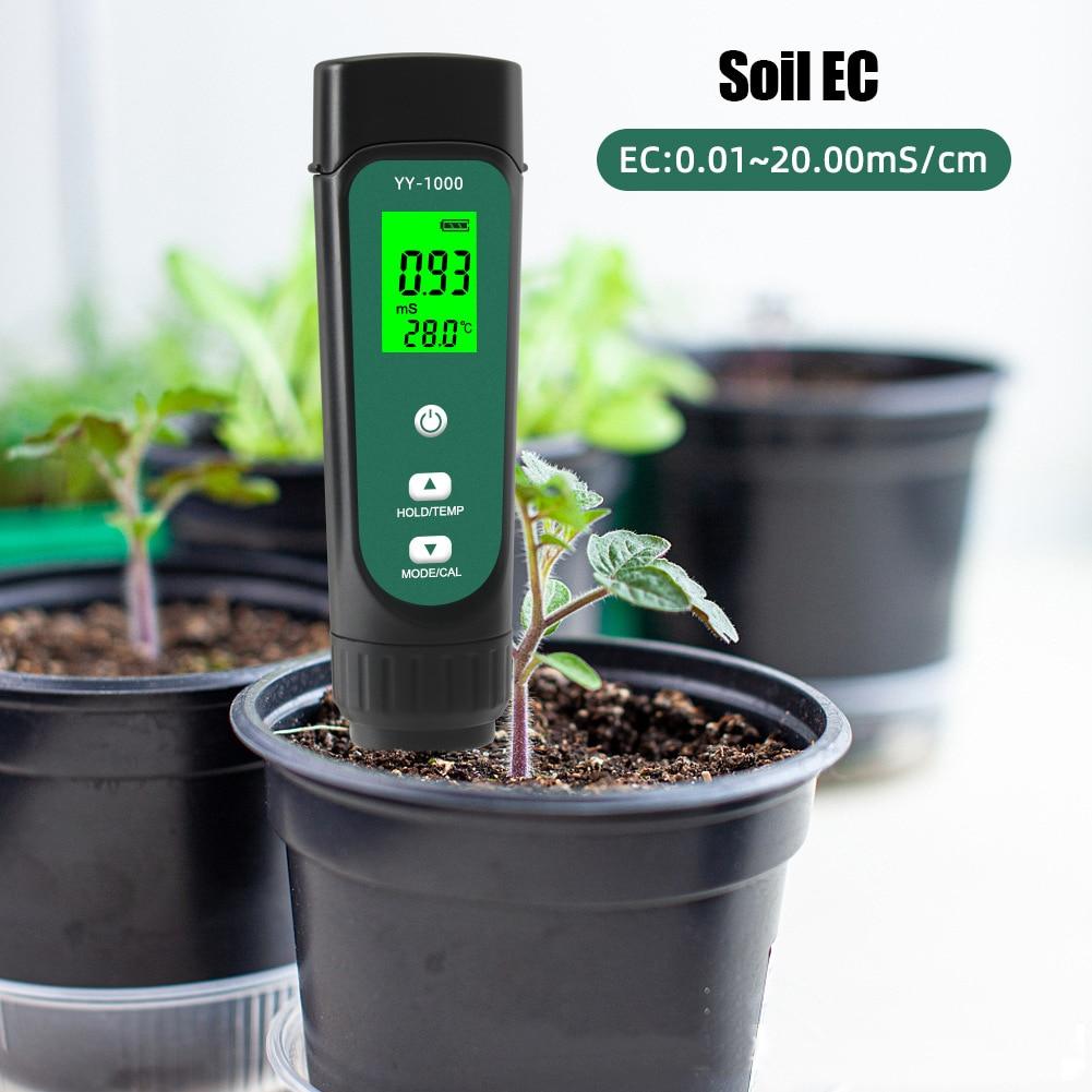 Цифровой анализатор почвы 3 в 1, водонепроницаемый измеритель температуры для садовых растений, съемный анализатор