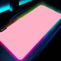 Черный и белый коврик для мыши, геймерский розовый коврик для мыши, простой игровой коврик для мыши со светодиодной подсветкой, компьютерны...