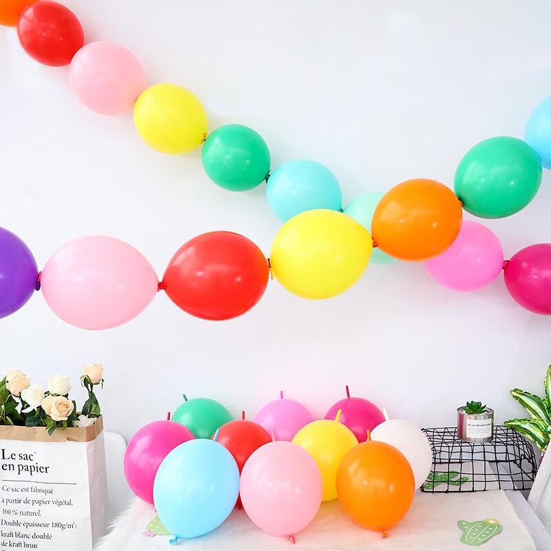 10 pçs 10 polegada link balões decoração da festa de casamento cauda ballon casa jardim evento festa de casamento suprimentos casamento globos de ar