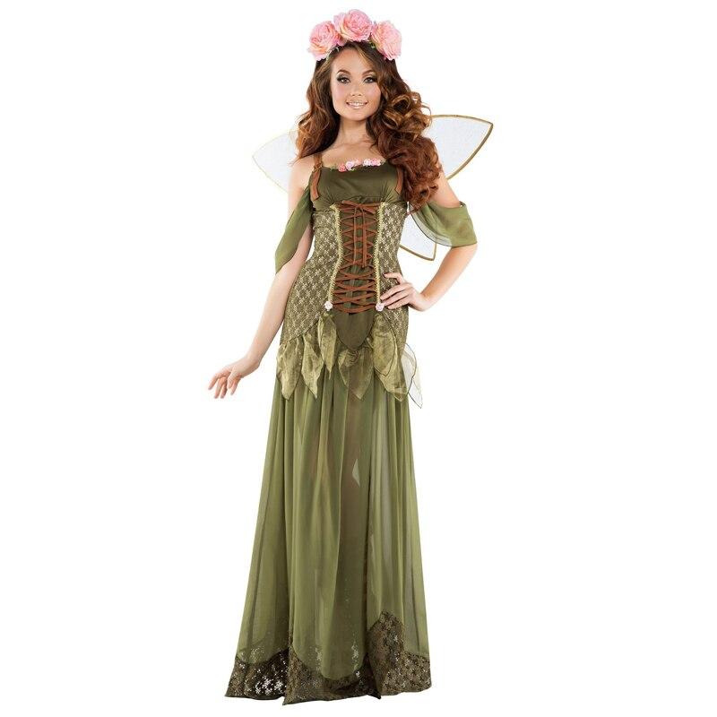 Disfraz de Carnaval de campanilla para mujer, Vestido largo de lujo, disfraz de hada duende, disfraz de fiesta de Halloween