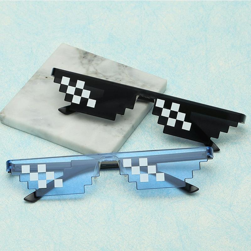 Фото - Новинка 2020, мозаичные солнцезащитные очки, игрушечные очки для розыгрышей, очки «Deal With It», пиксельные женские и мужские черные мозаичные сол... солнцезащитные очки pixel crew deal with it